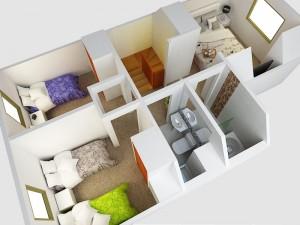 segundo piso vista dormitorio niños