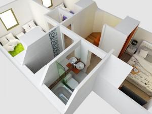 segundo piso vista baño principal
