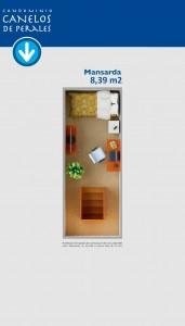 Planta mansarda 8,39 m2