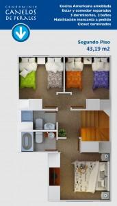 Planta segundo piso 43,19 m2