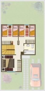 Casa tipo A, Piso 2° 38,84 m2