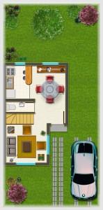 Casa tipo B, Piso 1° 32,53 m2
