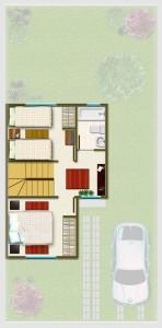 Casa tipo B, Piso 2° 33,39 m2